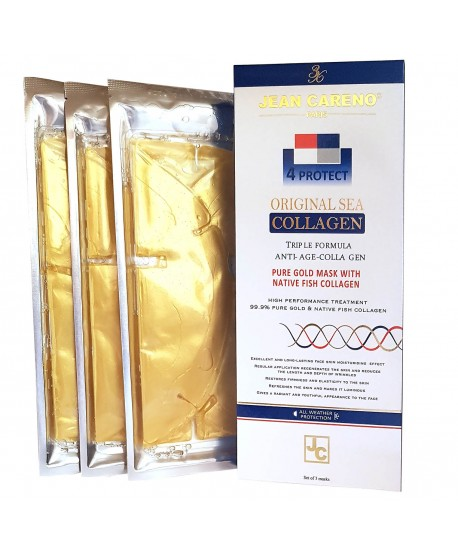 Gold Facial Mask Natural Fish Collagen 3 pc