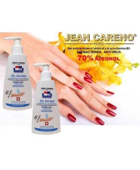 HAND GEL ANTIBACTERIAL Aloe and Provitamin B5 - 70% alcohol 210 ml.