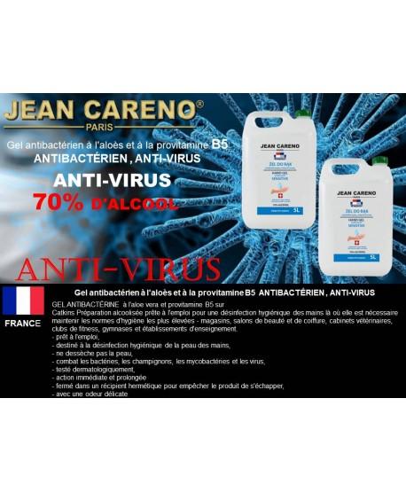 HAND GEL ANTIBACTERIAL Aloe and Provitamin B5 - 70% alcohol 5 l.